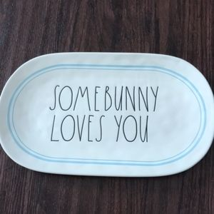 NWT Rae Dunn SOME BUNNY LOVES YOU Tray